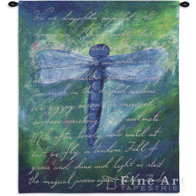 Dragonfly Poem Wall Tapestry