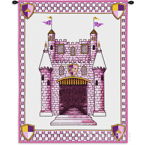 Castle Pink Wall Tapestry