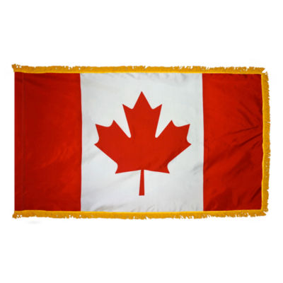 Canada Flag 3x5 ft. Nylon Pole Sleeve and Gold Fringe by Annin Flagmakers Model 190058
