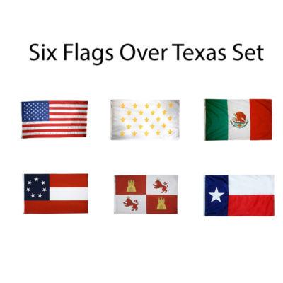 Six Flags of Texas Set 3x5 ft. Nylon by Annin Flagmakers Model 319865