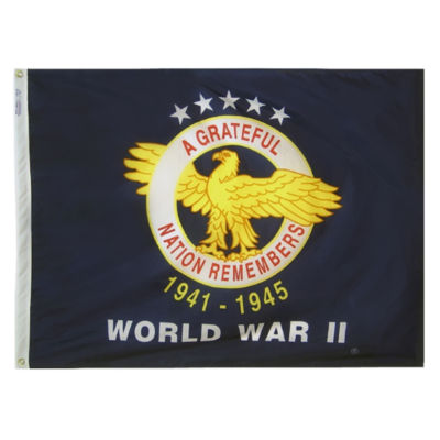 WWII Commemorative Flag  3x4 ft. Nylon by Annin Flagmakers Model 438800
