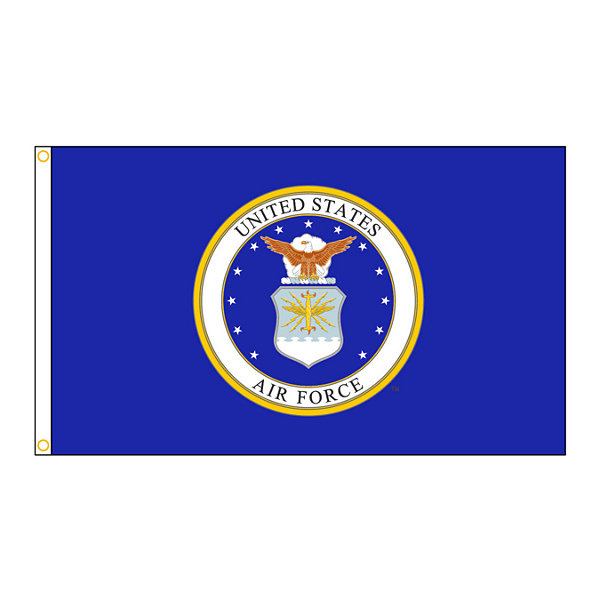 U.S. Airforce Military Flag 3x5 ft. Nylon SolarGuard Nyl-Glo 100% Made in USA to Official Specifications. Annin Flagmakers is an Officially Licensed Manufacturer. Model 439010