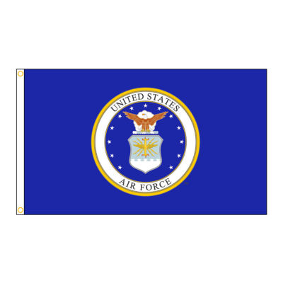 U.S. Airforce Military Flag 4x6 ft. Nylon SolarGuard Nyl-Glo 100% Made in USA to Official Specifications. Annin Flagmakers is an Officially Licensed Manufacturer. Model 439012