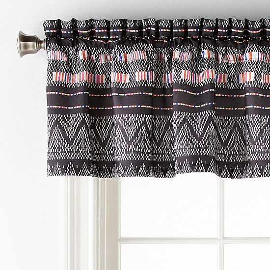 Home Expressions Culture Clash Rod-Pocket Tailored Valance