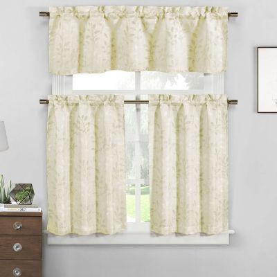 Neile Floral Jacquard Kitchen Curtain