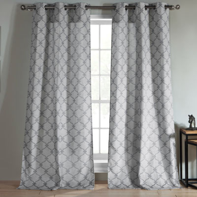 "Duck River Kenilworth Jacquard 96""L Grommet Pair Panel"""