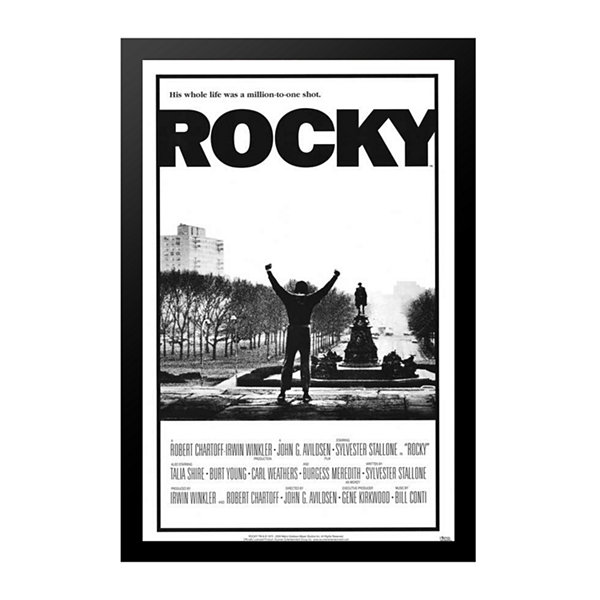 Rocky (1977) Movie Poster Framed Wall Art