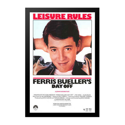 Ferris Bueller's Day Off (1986) Movie Poster Framed Wall Art