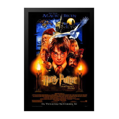 Harry Potter and the Sorcerer's Stone (2001) Movie Poster Framed Wall Art