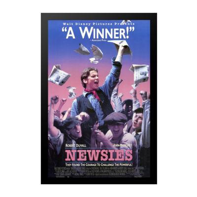 Newsies (1992) Movie Poster Framed Wall Art
