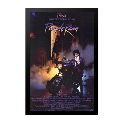 Purple Rain (1984) Movie Poster Framed Wall Art
