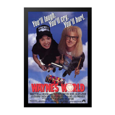 Wayne's World (1992) Movie Poster Framed Wall Art