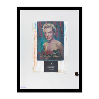 Fairchild Paris Marilyn Monroe Chanel Ad (716) Framed Wall Art