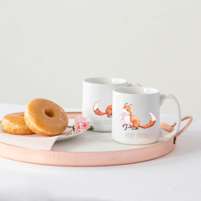 Cathy's Concepts Foxtastic Dad And Foxy Mama 2-pc. Coffee Mug