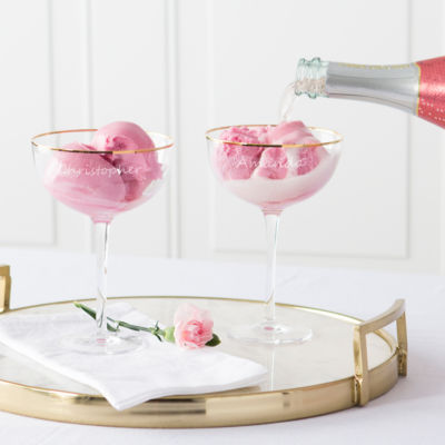 Cathy's Concepts Personalzie Personalized Champagne Flutes