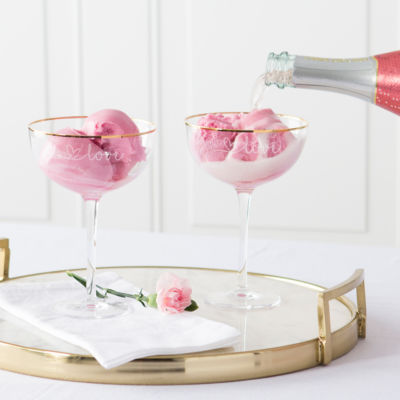 Cathy's Concepts Love Champagne Flutes