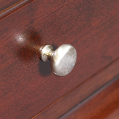 1.25-in. W Round Brass Cabinet Knob In Brushed Nickel Color