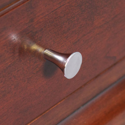 1-in. W Round Brass Cabinet Knob