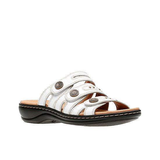 b8c294829b61 Clarks Leisa Lakia Womens Slide Sandals JCPenney