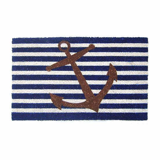 Nautical Anchor Rectangular Doormat
