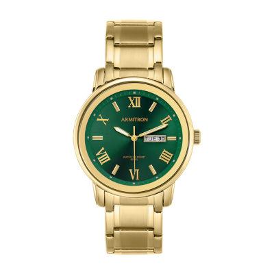 Armitron Mens Gold Tone Bracelet Watch-20/4935gngp