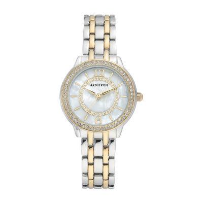 Armitron Womens Two Tone Bracelet Watch-75/5635mptt