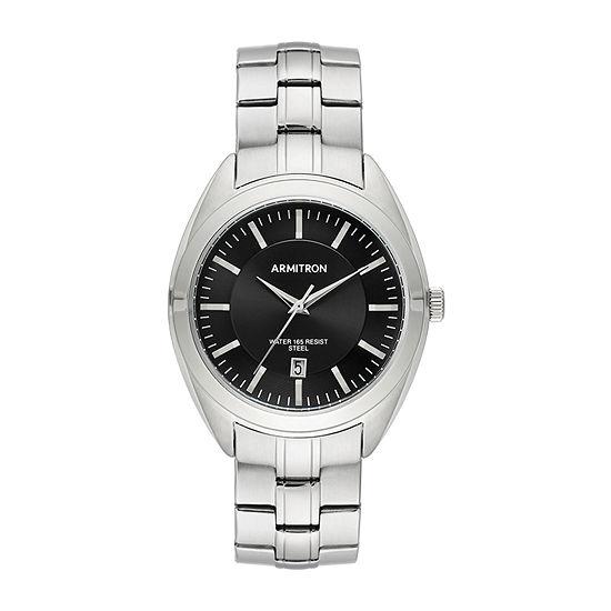 Armitron Mens Silver Tone Stainless Steel Bracelet Watch-20/5387bksv