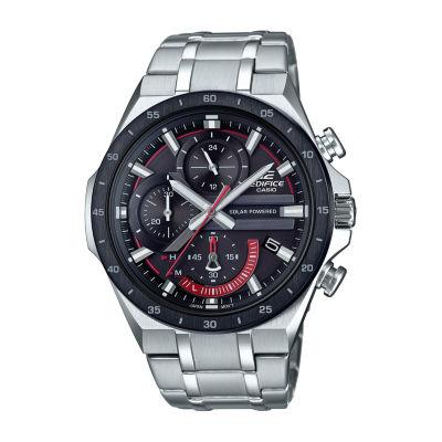 Casio Mens Silver Tone Bracelet Watch-Eqs920db-1av