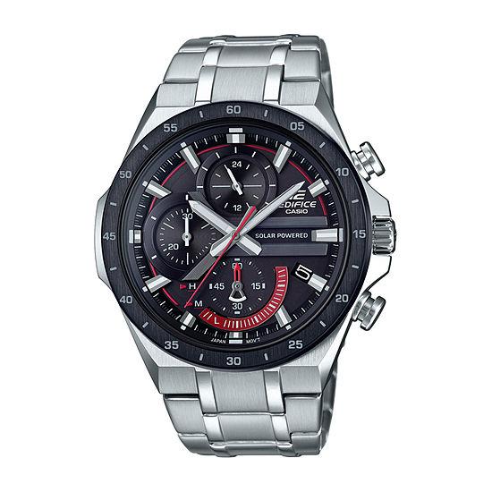 Casio Edifice Mens Silver Tone Stainless Steel Bracelet Watch-Eqs920db-1av