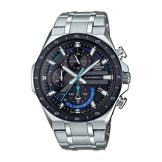 Casio Edifice Mens Silver Tone Stainless Steel Bracelet Watch-Eqs920db-1bv