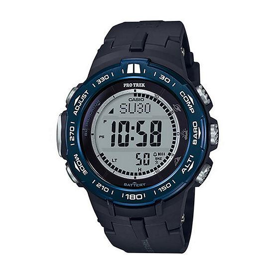 Casio Mens Black Strap Watch Prw3100yb 1