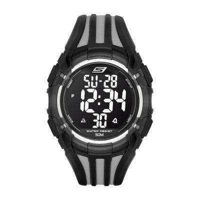 Skechers El Porto Mens Black Strap Watch-Sr1006