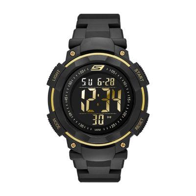 Skechers Ruhland Mens Black Strap Watch-Sr1019