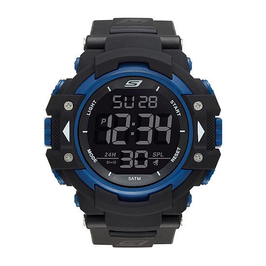Skechers Keats Mens Black Strap Watch-Sr1035