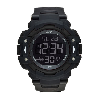 Skechers Keats Mens Black Strap Watch-Sr1037