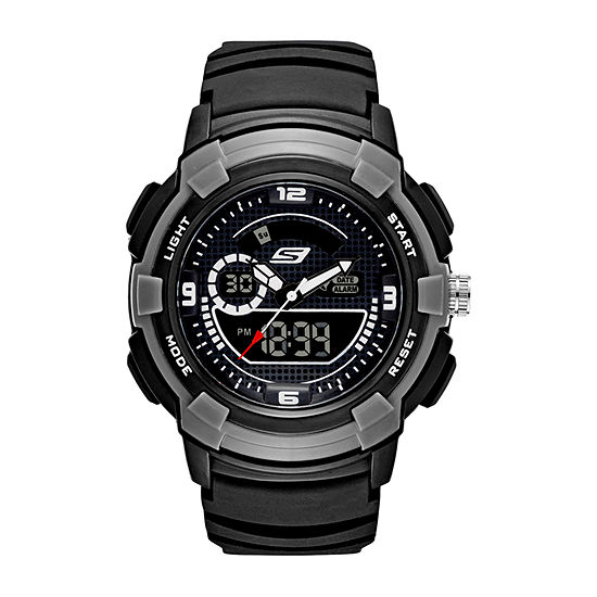 Skechers Highview Mens Black Strap Watch-Sr1073