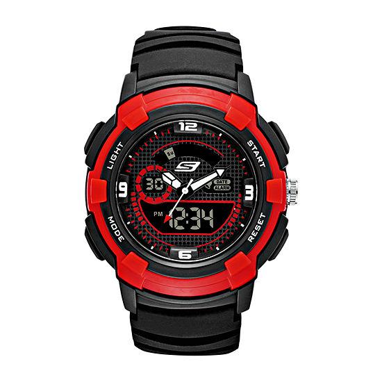 Skechers Highview Mens Chronograph Black Strap Watch-Sr1074