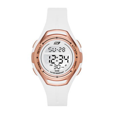 Skechers Artesia Womens White Strap Watch-Sr2011