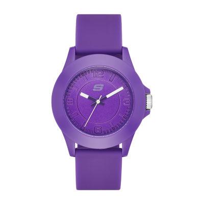 Skechers Rosencrans Midsize Womens Purple Strap Watch-Sr6026
