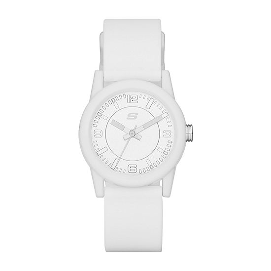 Skechers Rosencrans Mini Womens White Strap Watch-Sr6029