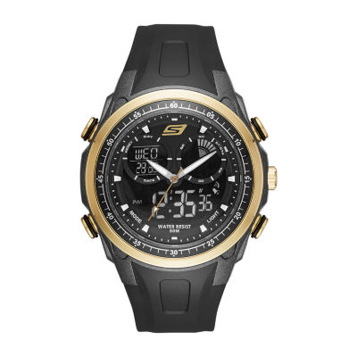 Skechers Mansel Mens Black Strap Watch-Sr1079