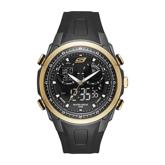 Skechers Mansel Mens Black Strap Watch Sr1079