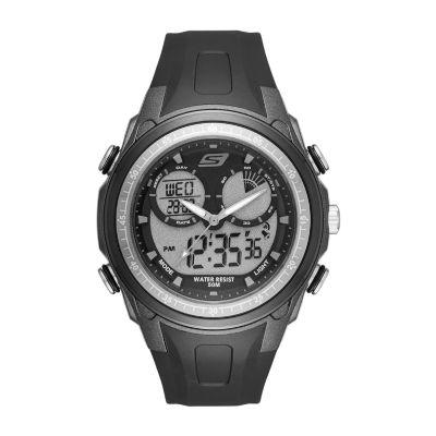 Skechers Mansel Mens Black Strap Watch-Sr1080