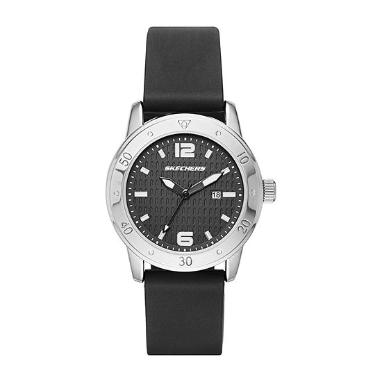 Skechers Redondo Womens Black Strap Watch-Sr6049