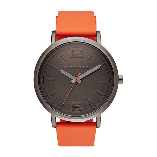 Skechers Ardmore Mens Orange Strap Watch-Sr5048