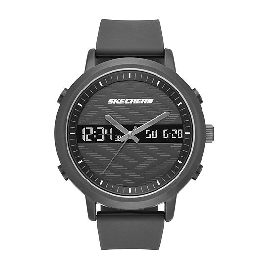 Skechers Lawndale Mens Chronograph Black Strap Watch-Sr5071