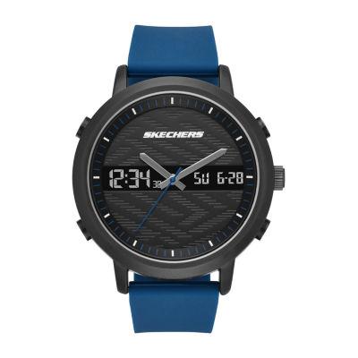 Skechers Lawndale Mens Blue Strap Watch-Sr5072