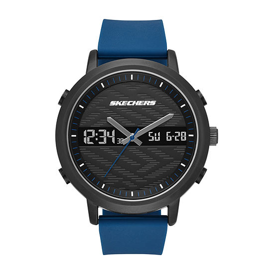 Skechers Lawndale Mens Blue Strap Watch-Sr5072