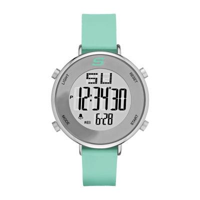 Skechers Magnolia Womens Green Strap Watch-Sr6070