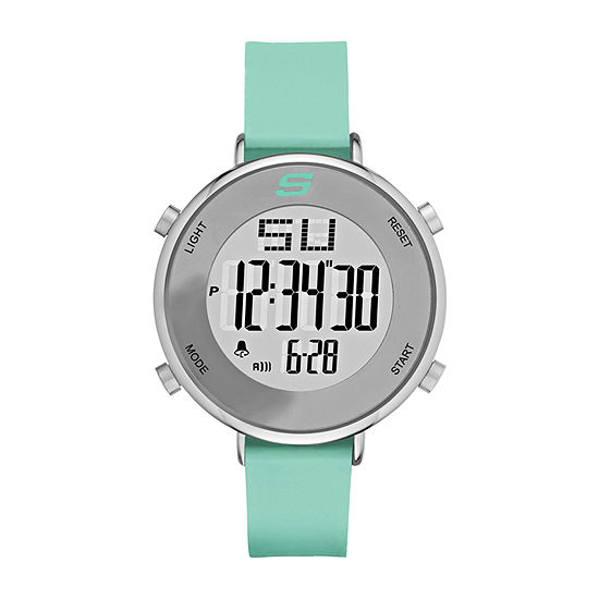 Skechers Magnolia Womens Chronograph Digital Green Strap Watch-Sr6070
